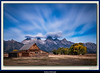 T.A. Moulton Barn and Teton Range with Clouds, 4m19s exposure