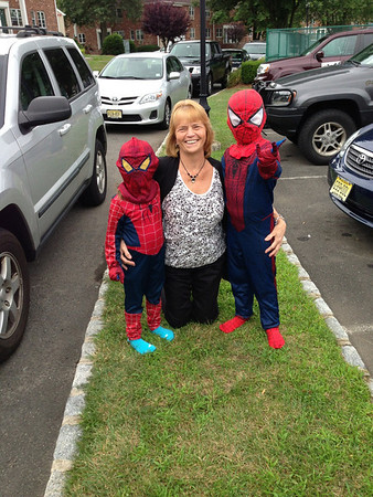 Grandma and her superheroes!