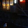 Nighttime walk in Kyoto.
