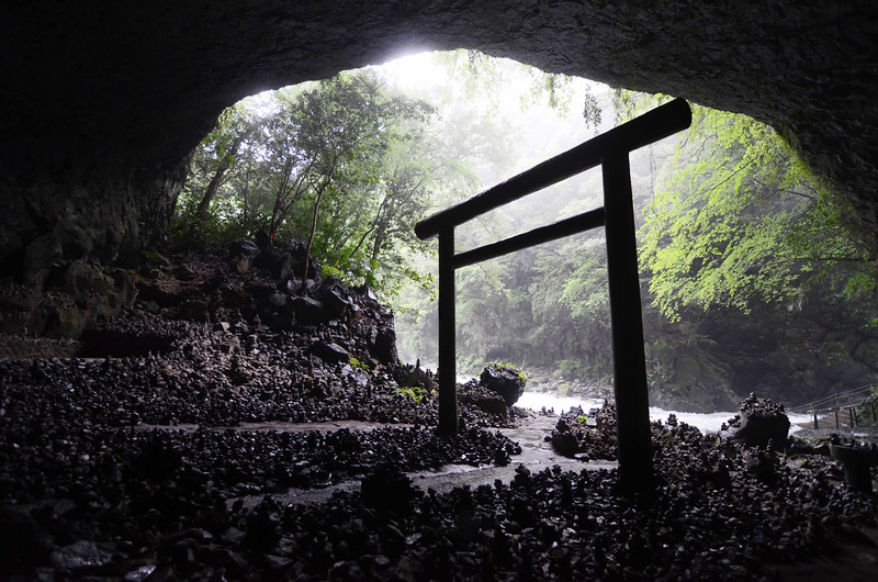 "Amano Iwato Shrine in Takachiho, where it's said that the sun goddess Amaterasu hid. <br /> <br /> More here: <a href=""http://www.japan-guide.com/e/e8054.html"">http://www.japan-guide.com/e/e8054.html</a>"