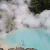 "A big pond of boiling hot spring water called ""Umi no Jigoku"" in Beppu."