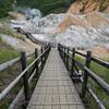 Hot spring source at Noboribetsu, Hokkaido.
