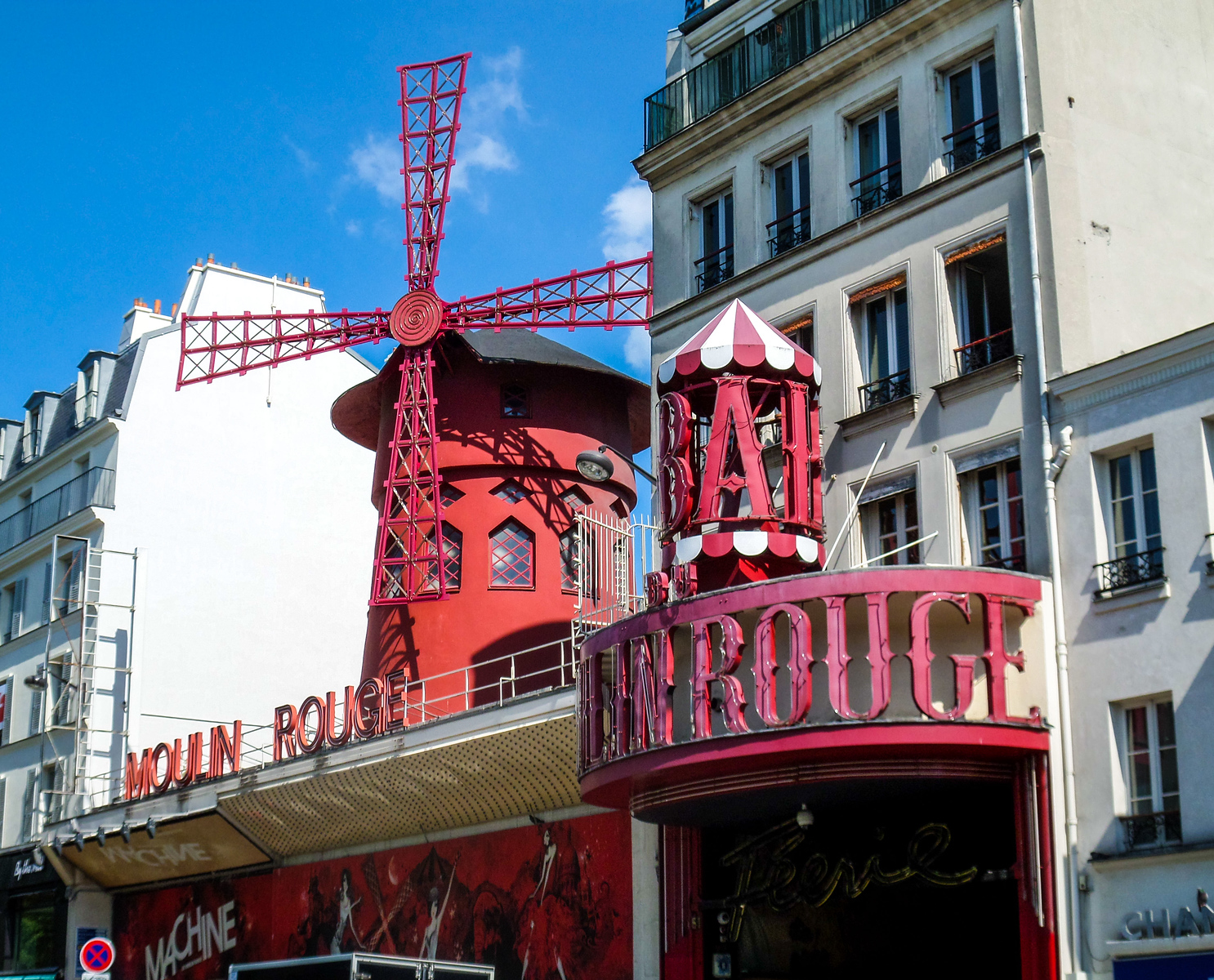 Moulin Rouge in Paris France.