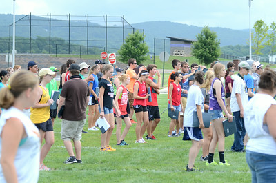 The Danville High School marching band was out practicing their routine on Wednesday morning near the high school.
