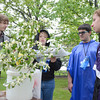 Wallenpaupak Area High School students Tanner Abbott, 17, left, Naille Spewak, 18, Antonio DiSilvester, 15, and Molly Peterson, 17, look at a plant species while competing in the Envirothon on Wednesday at PPL Montour Preserve.