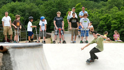 Skaters from around the area joined to participate in the free skate during Hess Fest Saturday June 9, 2012 in Danville.
