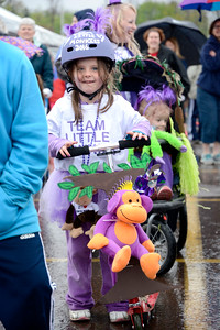 Madison Barker, 5, Lock Haven, gets ready for the start of this year's March of Dimes walk at Geisinger in Danville on Sunday.