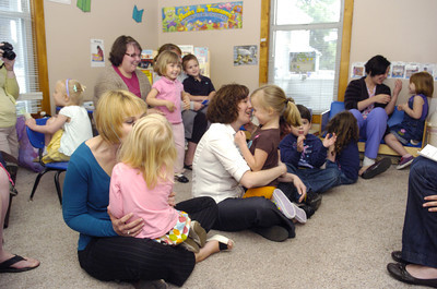 Mothers got to share a morning with their children Thursday morning at Lutz Day Care in Danville for a mommy and me day.