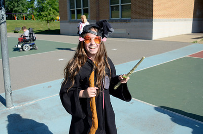 Zoe Zola was dressed up as Luna Lovegood from the Harry Potter book series while she and fellow fifth grade students at Liberty Valley finished up a lesson using Harry Potter.