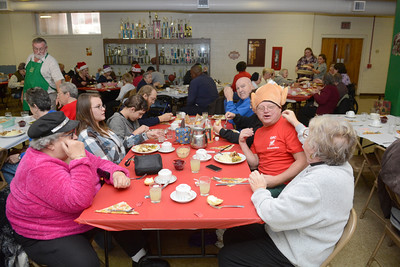 St. Joe's in Danville served more than 200 people between their annual sit down and take out Thanksgiving dinner on Thursday afternoon.
