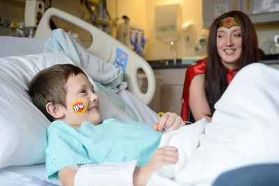 Superheroes visit Geisinger