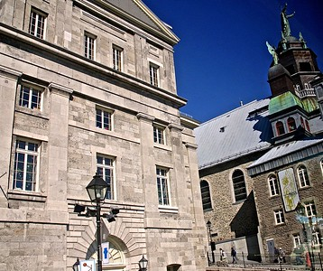 Beautiful Buildings in Old Montreal