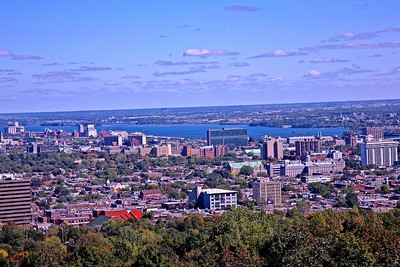 The View of Downtown Montreal and The St. Lawrence River