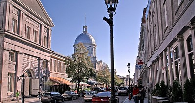 View of St. Paul's Street in Old Montreal