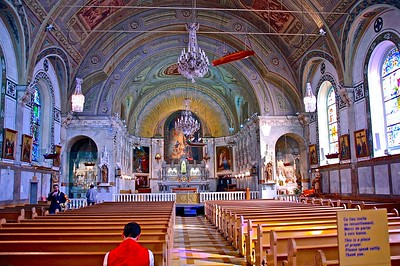 Interior of The Notre-Dame-de-Bon-Secours Chapel