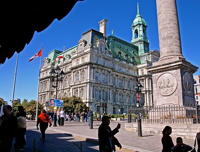 View of Montreal City Hall from Place Jacques-Cartier
