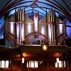 Organ inside the Notre-Dame Basilica.