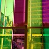 Stained glass windows at the Palais des Congres de Montreal.