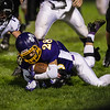 Mateo Serrano of Monty Tech goes down the the ball during Friday nights game at home against Blackstone Valley. Sentinel & Enterprise photo/Jeff Porter