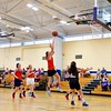 North Middlesex's Erin Bourgeois  puts up a jumper in the lane. Nashoba Valley Voice/Ed Niser