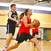 North Middlesex's Hadley Beauregard drives to the basket during Monday's win over Parker. Nashoba Valley Voice/Ed Niser