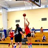 North Middlesex's Erin Bourgeois  puts up a jumper. Nashoba Valley Voice/Ed Niser