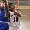 Montachusett Regional Vocational Technical School boys basketball played Assabet Valley on Thursday night, Jan. 9, 2020 in Fitchburg. Monty Tech's #10 Cenceir Mills. SENTINEL & ENTERPRISE/JOHN LOVE