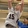 Montachusett Regional Vocational Technical School boys basketball played Assabet Valley on Thursday night, Jan. 9, 2020 in Fitchburg. Monty Tech's #15 Fred Fairbanks. SENTINEL & ENTERPRISE/JOHN LOVE