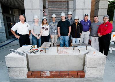 Monty Tech students work on 9/11 memorial