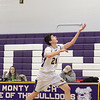 Montachusett Regional Vocational Technical School player Joe Novelli goes after a high pass to him in their match up against Joseph P. Keefe Technical Vocational School on Thursday night. SENTINEL & ENTERPRISE/JOHN LOVE