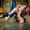Monty Tech's Evan Clarke faces Leominsters, Anthony Larson during their meet at Montachusett Regional Vocational Technical School. SUN/Caley McGuane
