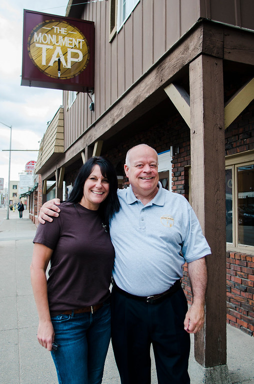 . The Monument Tap, formerly The Tankard,  has been purchased and rennovated by Leominster\'s Mike Cooley. Cooley and bartender Melissa Mazzaferro stand outside the bar on Thursday, April 20, 2017. SENTINEL & ENTERPRISE / Ashley Green