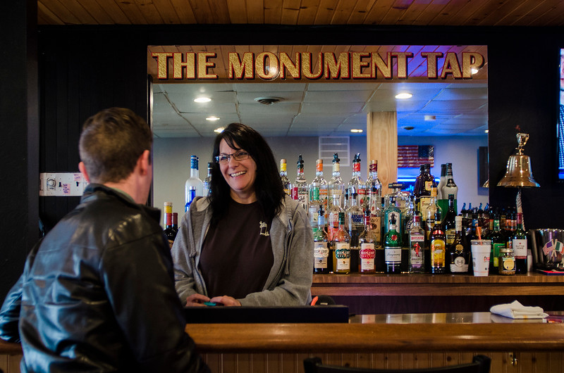 The Monument Tap, formerly The Tankard,  has been purchased and rennovated by Leominster's Mike Cooley. Bartender Melissa Mazzaferro tends to customers on Thursday, April 20, 2017. SENTINEL & ENTERPRISE / Ashley Green