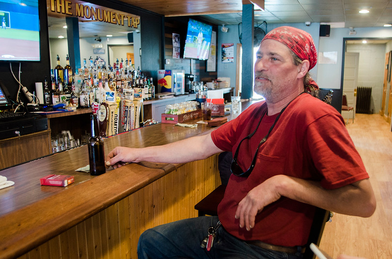 The Monument Tap, formerly The Tankard,  has been purchased and rennovated by Leominster's Mike Cooley. Mike Rodriguez enjoys a drink on Thursday, April 20, 2017. SENTINEL & ENTERPRISE / Ashley Green
