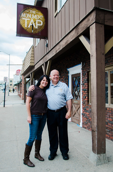 The Monument Tap, formerly The Tankard,  has been purchased and rennovated by Leominster's Mike Cooley. Cooley and bartender Melissa Mazzaferro stand outside the bar on Thursday, April 20, 2017. SENTINEL & ENTERPRISE / Ashley Green