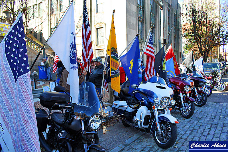 Flags and Harleys