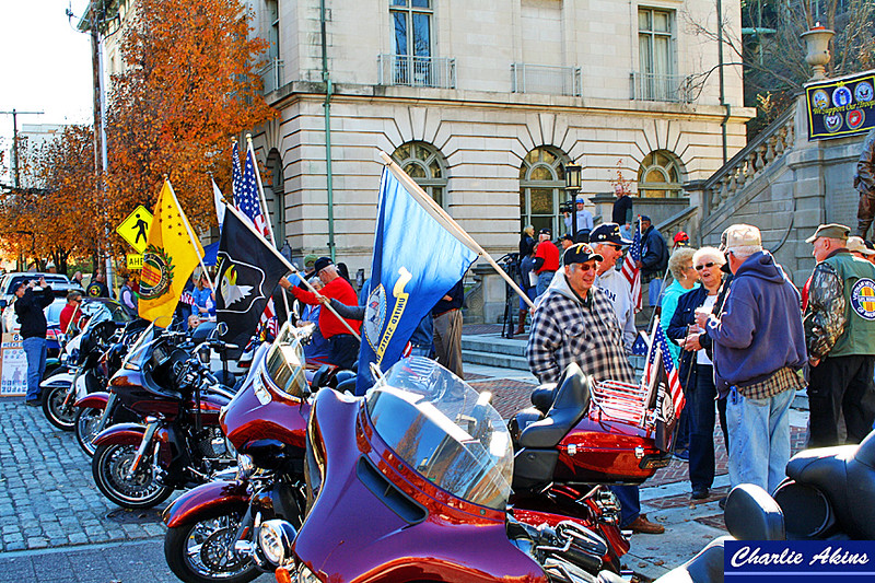 There were several Harleys at the rally.