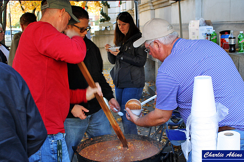 Brunswick stew was served at the rally.