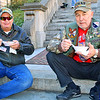 Veterans enjoying stew
