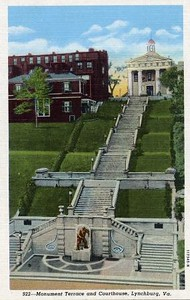 Postcard of Monument Terrace and Old 1855 Court House (02454)