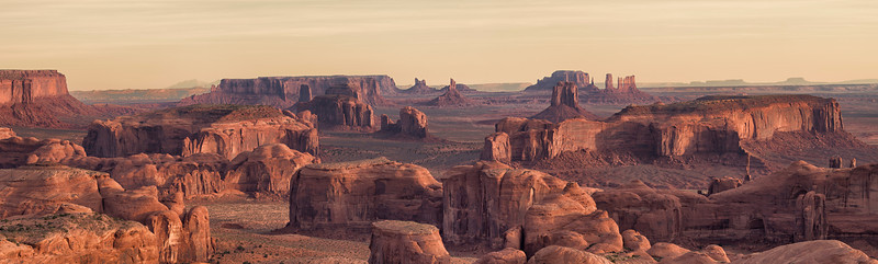 Hunt's Mesa Panorama, Monument Valley, AZ