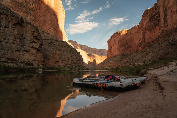 Sunrise in the Grand Canyon with Hatch Expeditions.