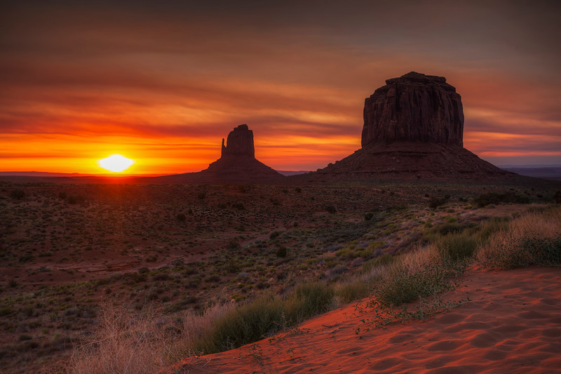 Sunrise At East Mitten, Monument Valley, Arizona