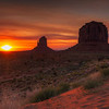 Sunrise At East Mitten, Monument Valley, Arizona