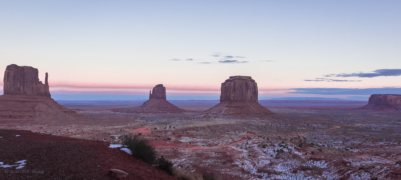 The two Mittens at Monument Valley