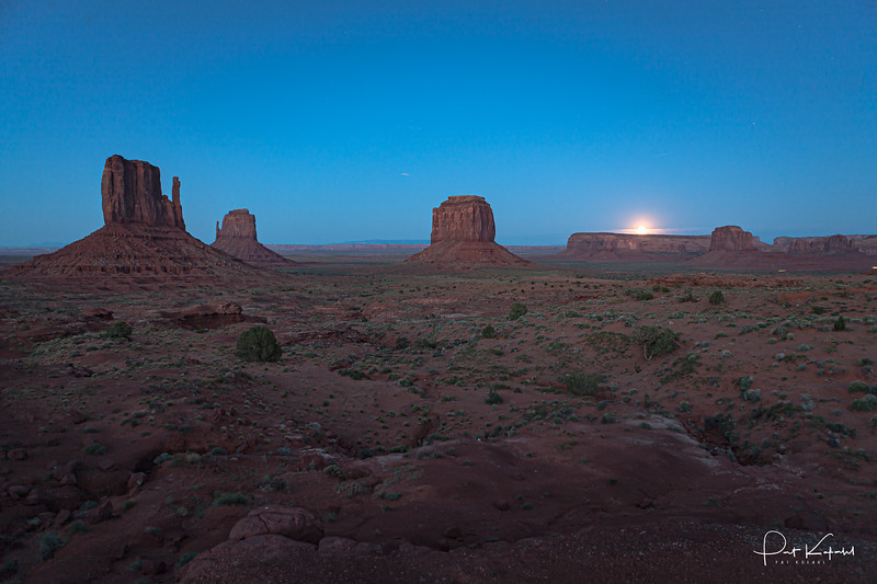 First Light at Monument Valley