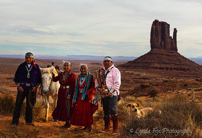 Navajo Family with Horse