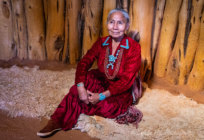 Navajo Woman in Traditional Dress