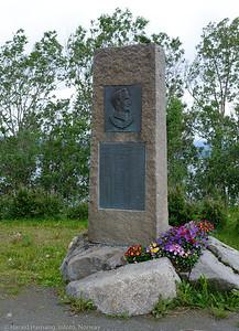 General Fleischer-monumentet på Veteranplassen. Foto 29. juni 2021