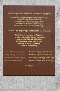 Monument over gravlagte på Silsaldmoen gravplass. Monumentet er på Gidsken Jakobsens plass på Fagernes.